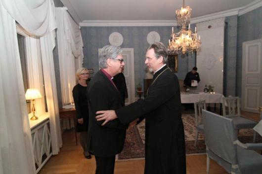 Metropolit Cleopas och biskop Jan-Olof Johansson